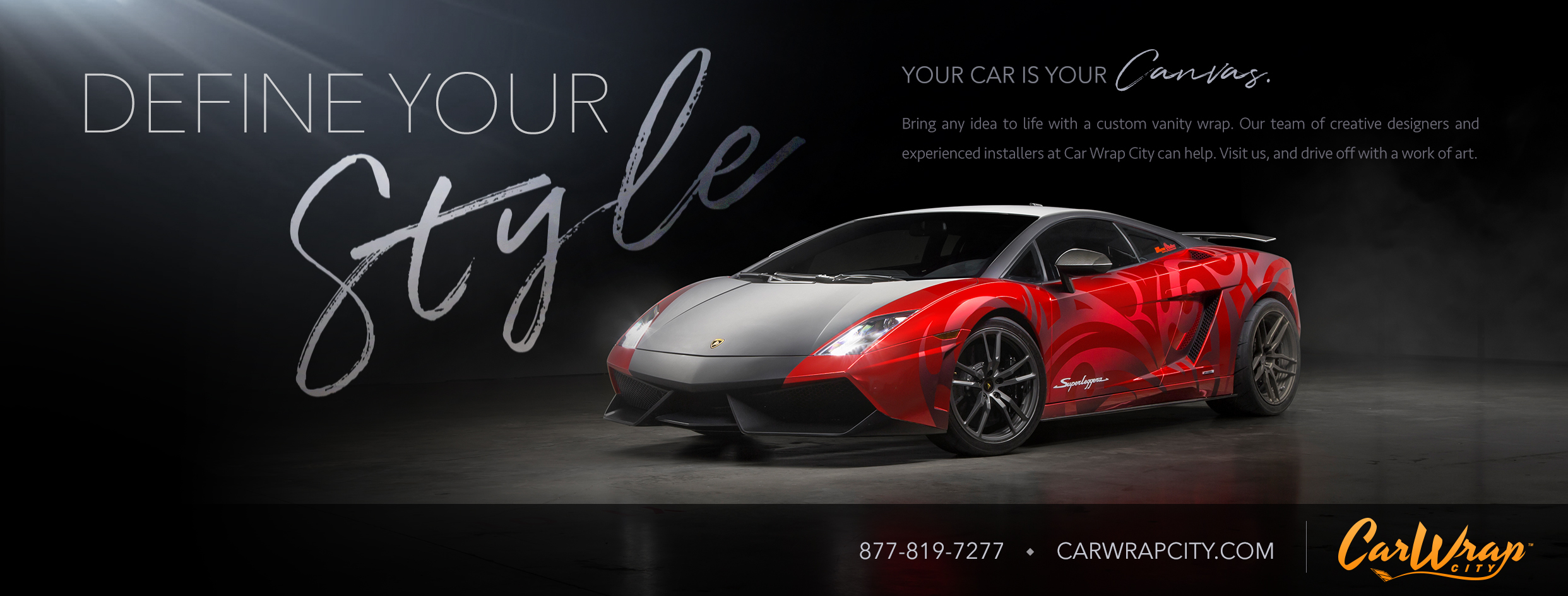 social media marketing banners for car wrap city