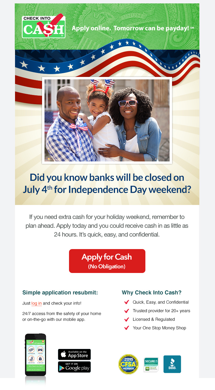 Independence Day Emails [Prospective]