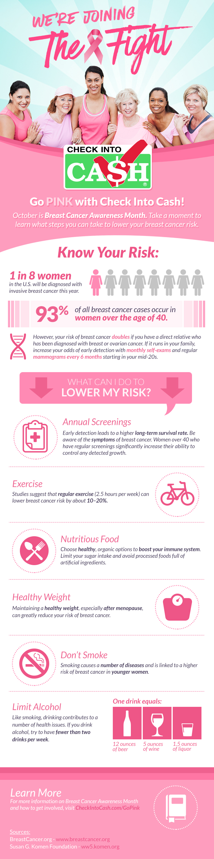 Pink Social Infographic