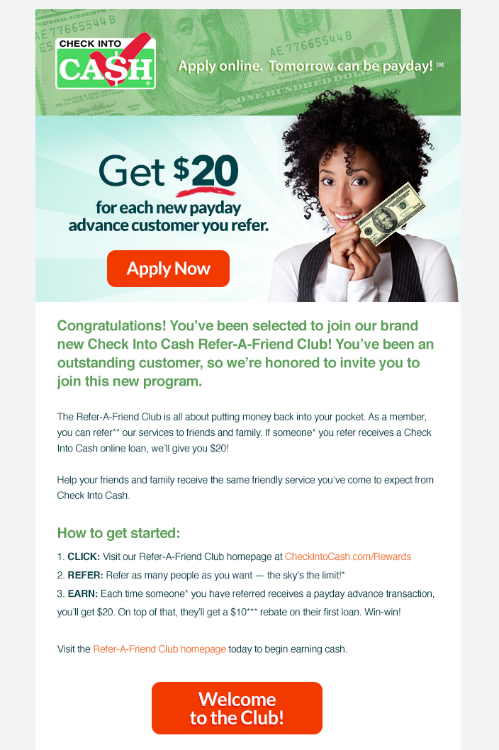 Referral Program Emails – Original Customer