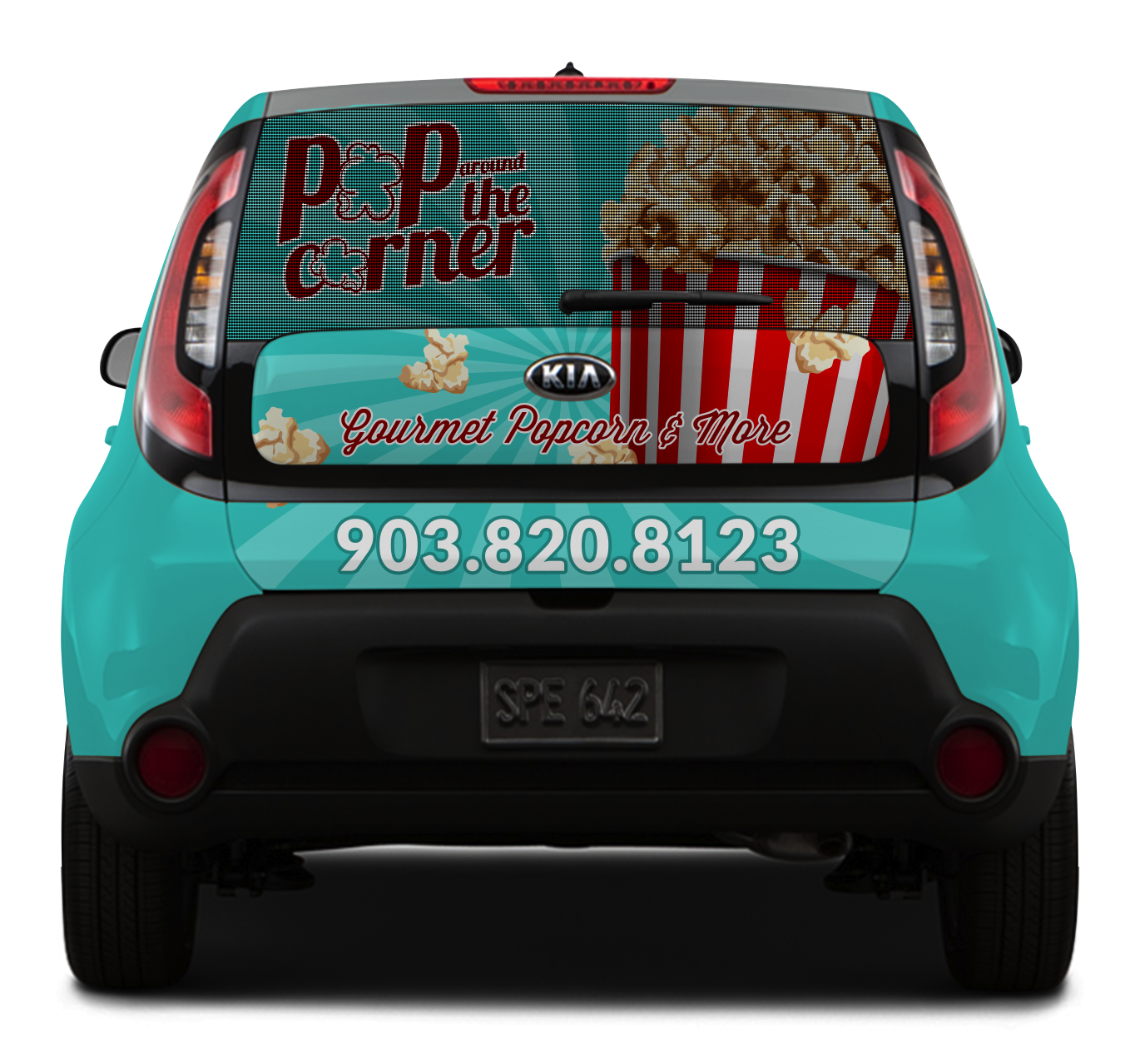 Back Design – Pop Around the Corner Vehicle Wrap