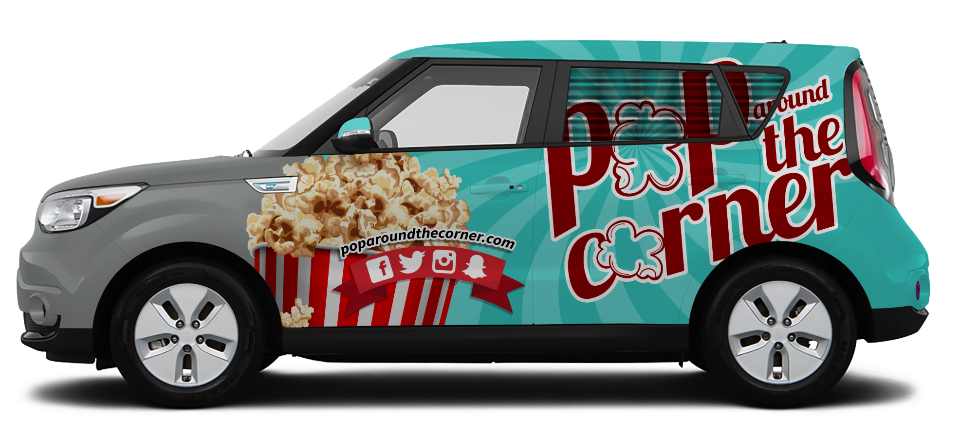 Driver Design – Pop Around the Corner Vehicle Wrap