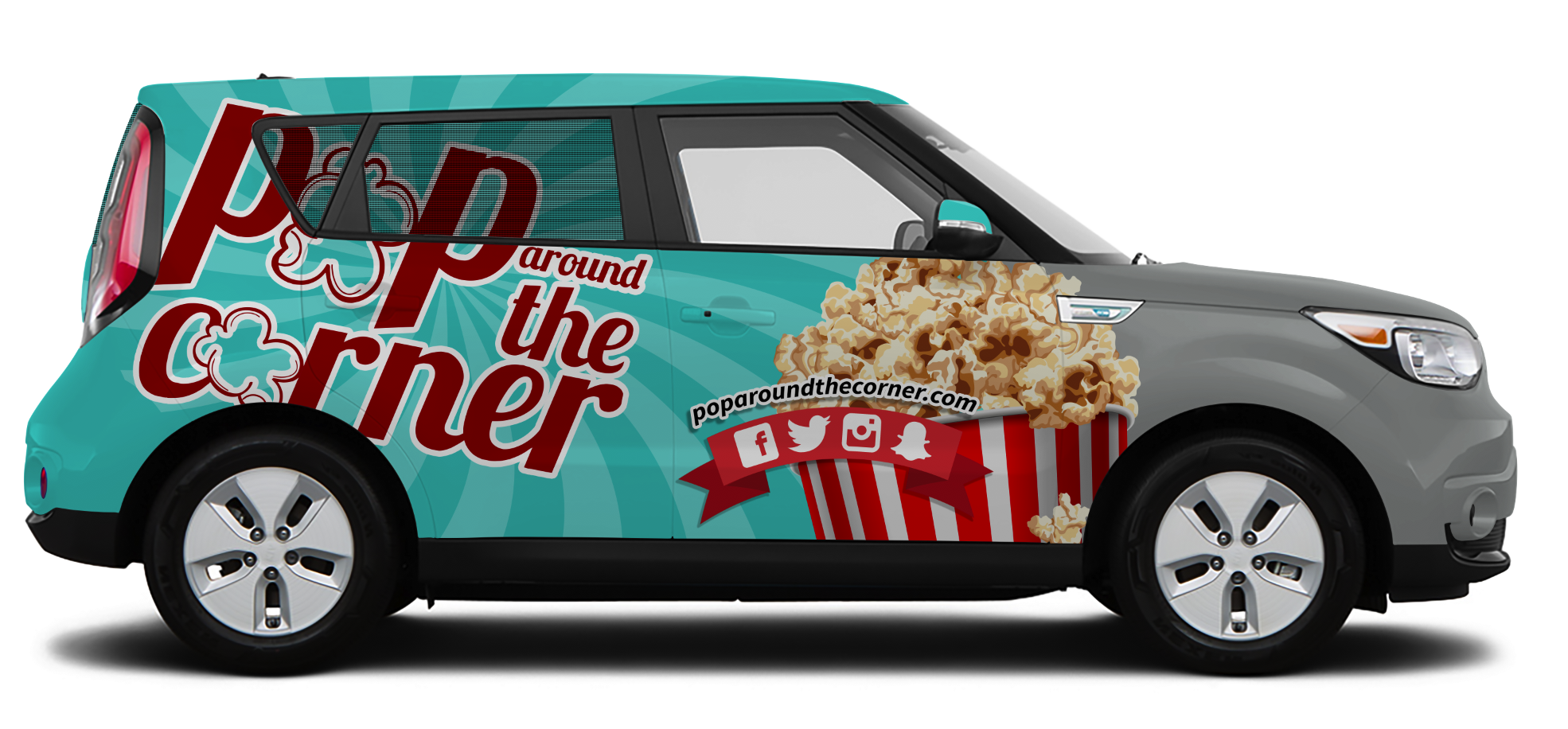 Passenger Design – Pop Around the Corner Vehicle Wrap