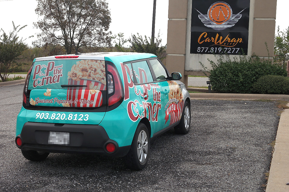 Pop Around the Corner Vehicle Wrap