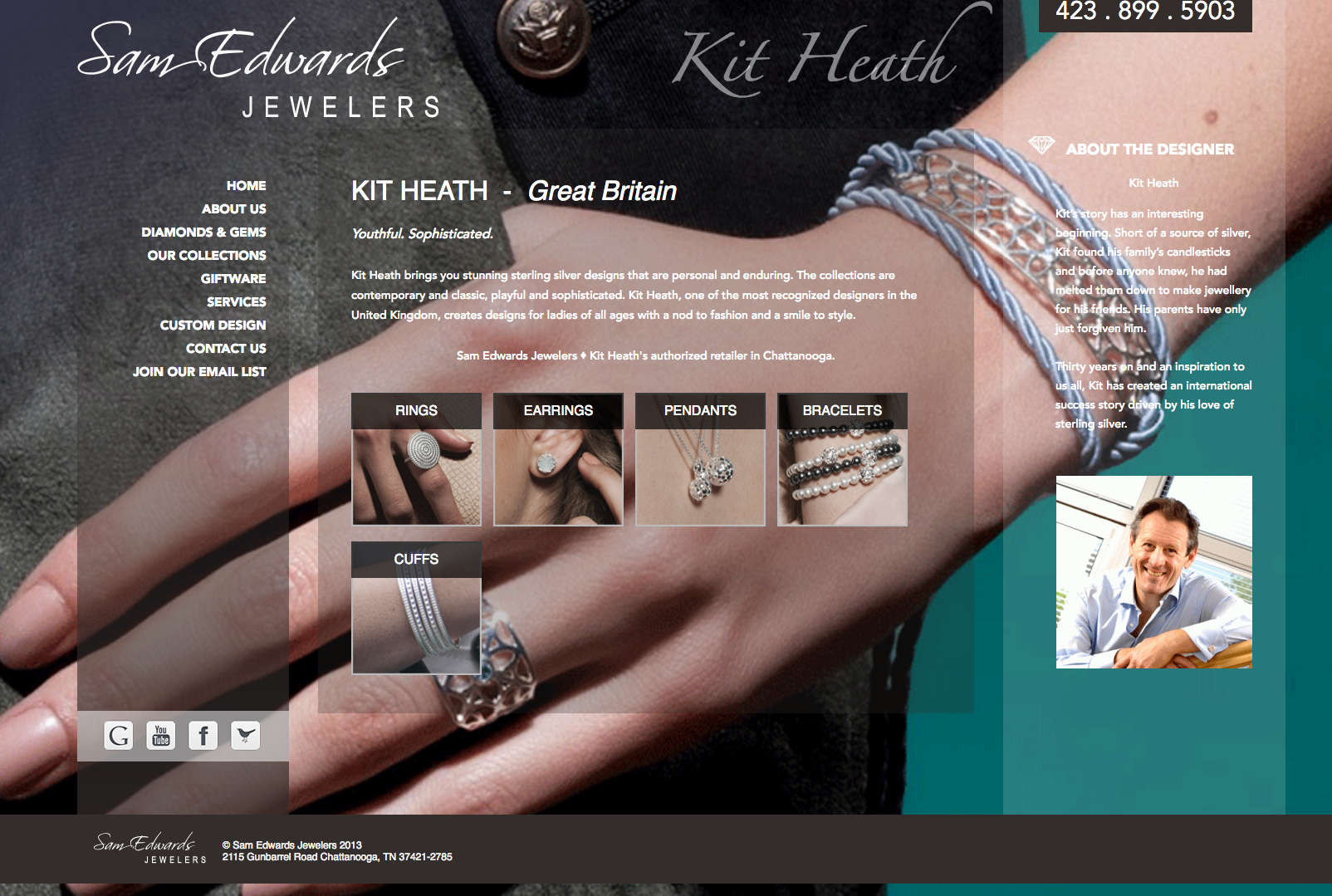 Responsive website for Sam Edwards Jewelers