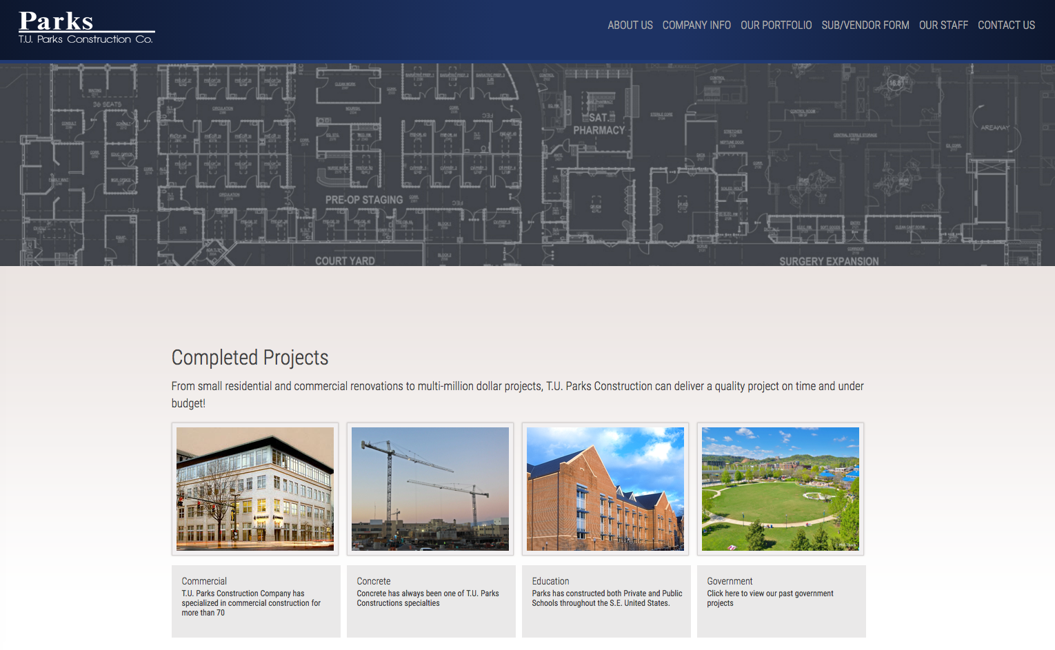 TU Parks Construction Desktop Site