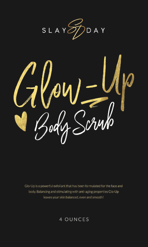 Front label for body scrub package