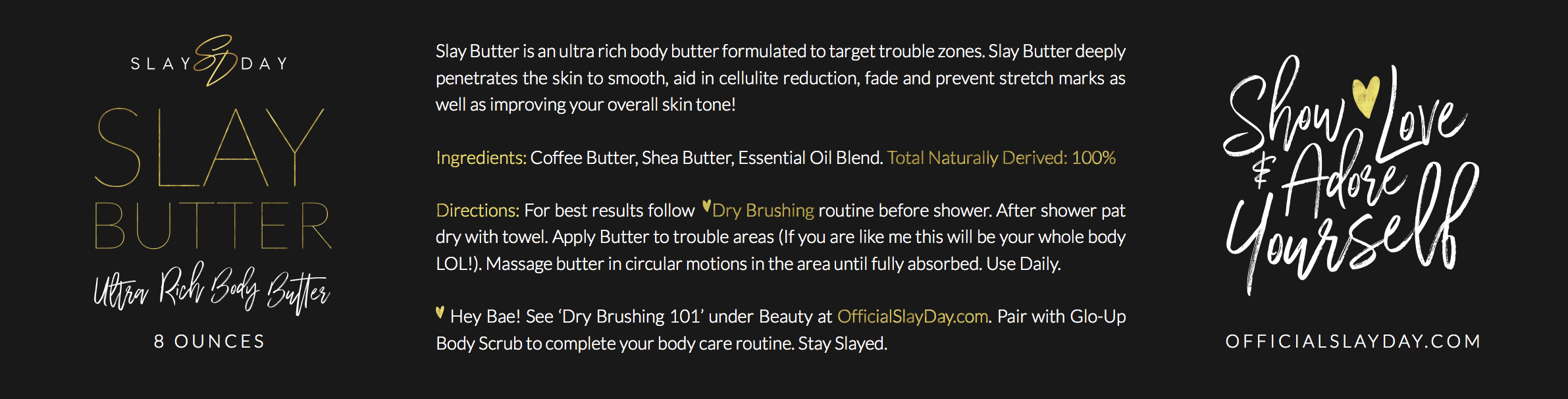 Label for body butter jar